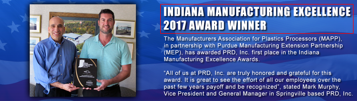 Indiana Mfg Excellence 2017 Award
